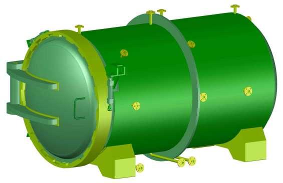 Autoclave. planos completos de las piezas, proceso de ensamble y materiales.