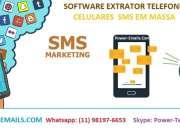 Software Extrator Telefones Celulares Sms Em Massa