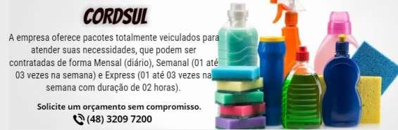 Cordsul-limpeza semanal / limpeza convencional / limpeza express