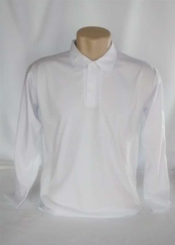 Polo manga longa lisa malha 100% algodão fio 30.1