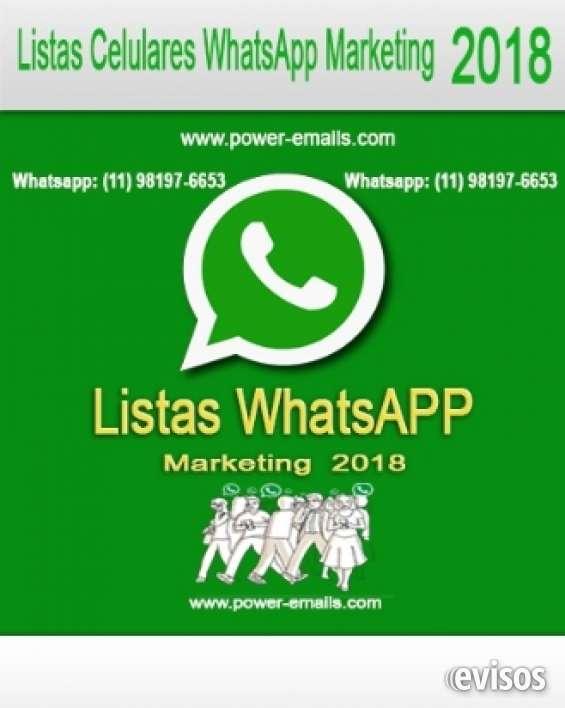 Lista celulares whatsapp marketing 2019