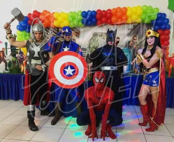 Heróis e vingadores - show cover personagens
