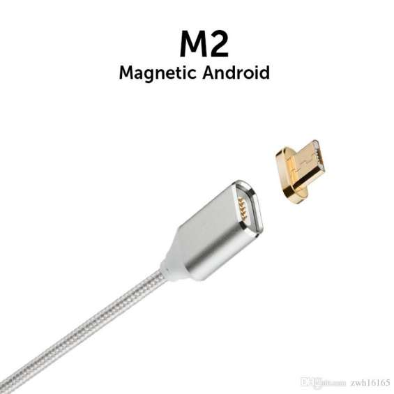 Cabo magnético prata android universal micro usb m2 original
