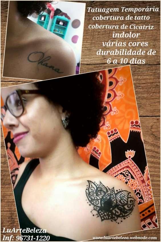 Tatuagem de henna cobertura de cicatriz
