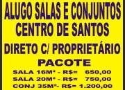 ALUGO SALAS COMERCIAIS/ESCRITORIO EM SANTOS