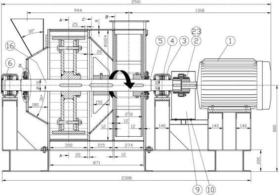 Fotos de Molino pulverizador. planos completo de las piezas y montaje. 6