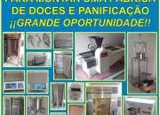 EQUIPAMENTO COMPLETO PARA MONTAR UMA FÁBRICA DE DOCES E PANIFICAÇÃO
