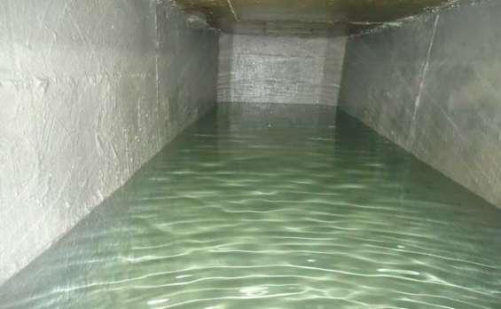 Limpeza de reservatório d'água no centro paulista