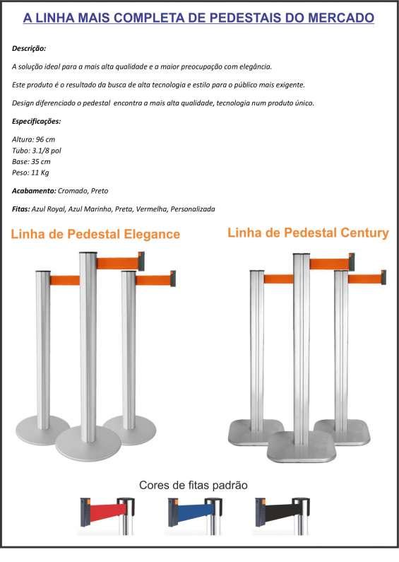 Pedestal demarcador