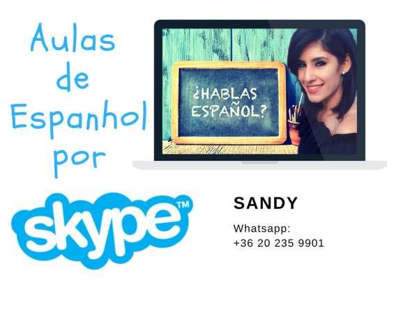 Aulas de espanhol skype