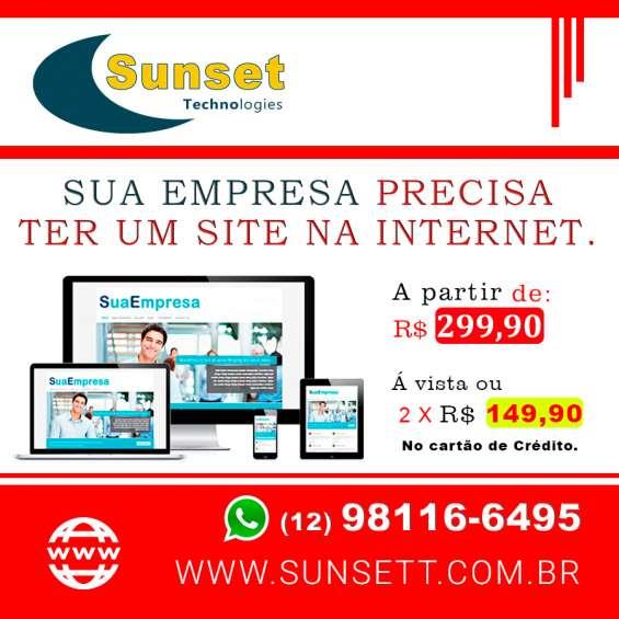 Faço sites e lojas virtuais para empresas