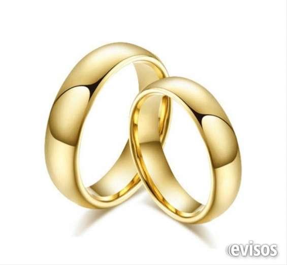 Aliança de tungstênio 6mm banhada a ouro 18k abalulada casamento noivado *par*