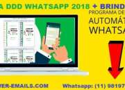 LISTA DDD WHATSAPP MARKETING + PROGRAMA DE ENVIOS WHATSAPP 2019