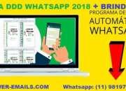Lista ddd whatsapp marketing + programa de envios whatsapp 2019