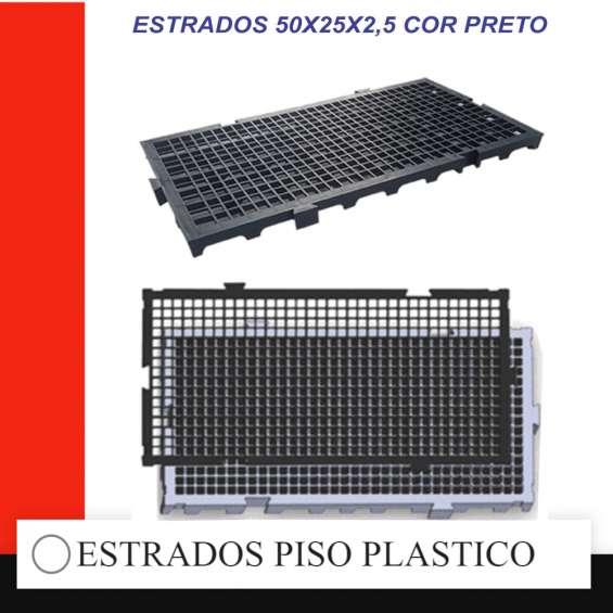Estrados piso plastico 50x25x2,5