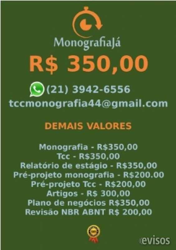 R$ 350,00 para monografia e tcc whatsapp (21) 3942-6556q