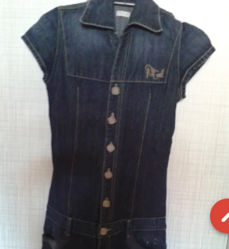 Vestido jeans semi novo tamanho 36