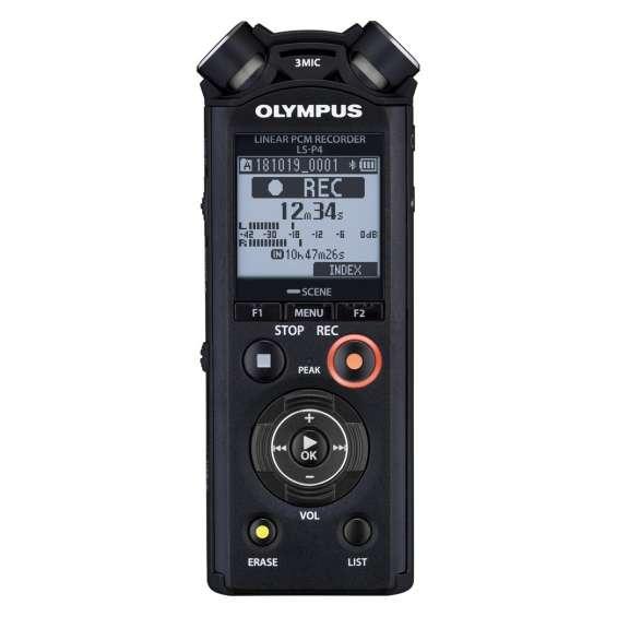 Olympus ls-p4 linear pcm flac mp3 gravador de áudio hi-res hifi novo
