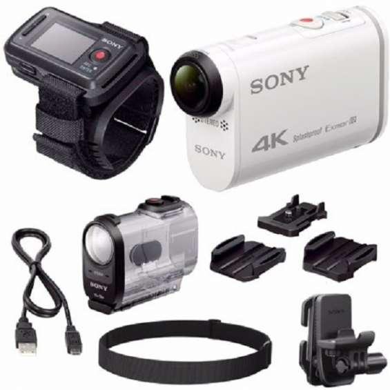 Camera de ação sony fdr-x1000vr / w 4k e kit remoto liveview