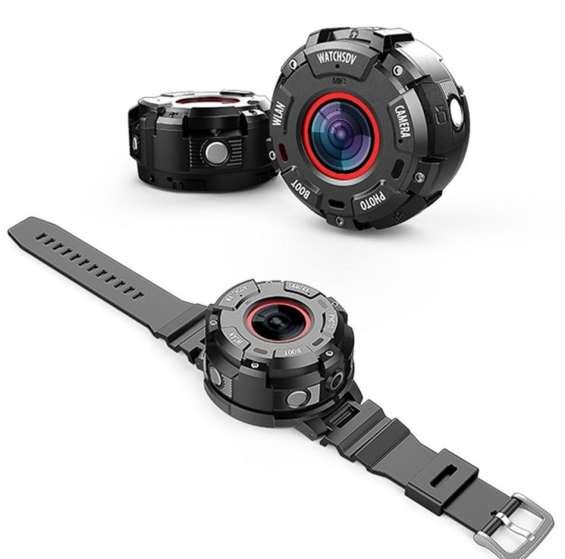 Câmera full hd 1080 à prova d 'água 30 metros 8mp com relógio e wi-fi.