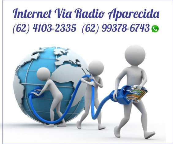 Internet via radio aparecida