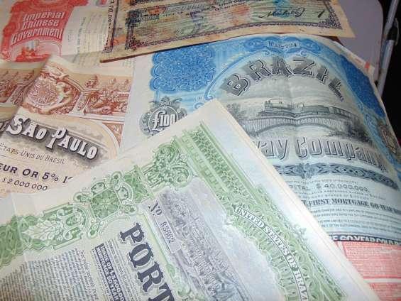 Apólices antigas, obrigações eletrobrás, títulos antigos
