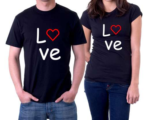 Camiseta preta personalizada love