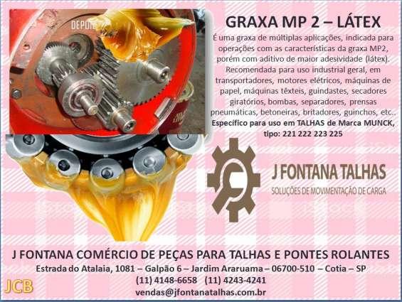 Graxa mp2 látex para talhas de marca munck, tipo 223