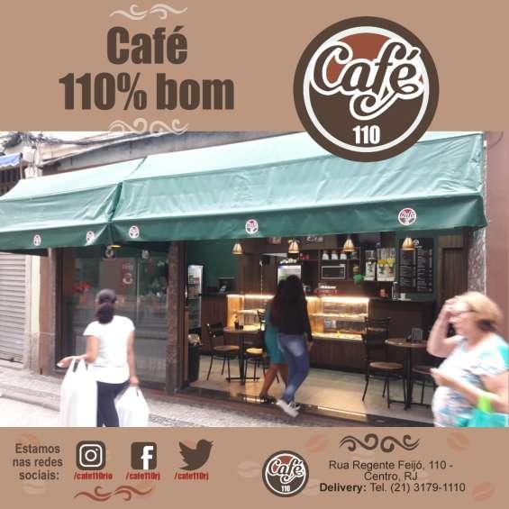 Entrada da cafeteria cafe 110 centro rio de janeiro rj