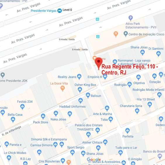 Mapa de localização: onde fica como chegar no cafe 110, cafeteria no centro do rj
