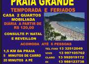 PRAIA GRANDE - TEMPORADA E FINS DE SEMANA