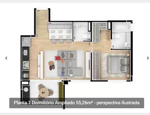 Fotos de Apartamentos em sp no brooklin rua pensilvania com 1 e 2 dormitorios 5